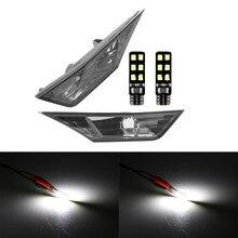 Para honda civic 2016-2018 fumaça lente lado marcador luzes lâmpadas switchback âmbar branco luzes de sinal lâmpada + t10 smd lâmpadas led