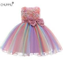 Винтажное жаккардовое платье для девочек 1 год, день рождения, вечерние под свадебное платье без спинки, платье-пачка с бантом для девочек ко...