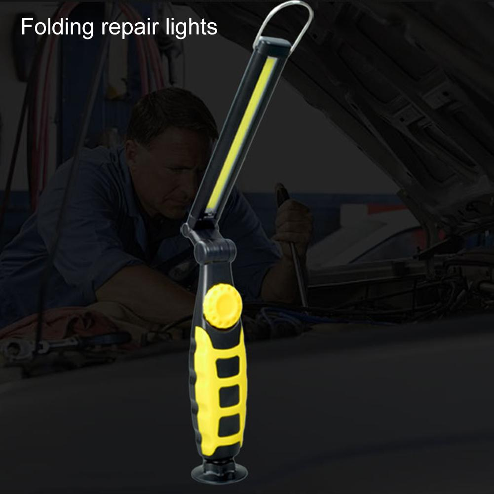 Work Light Flashlight COB+LED Rechargeable Magnet Torch Flexible Inspection Lamp Cordless Portable Battery Emergency Worklight