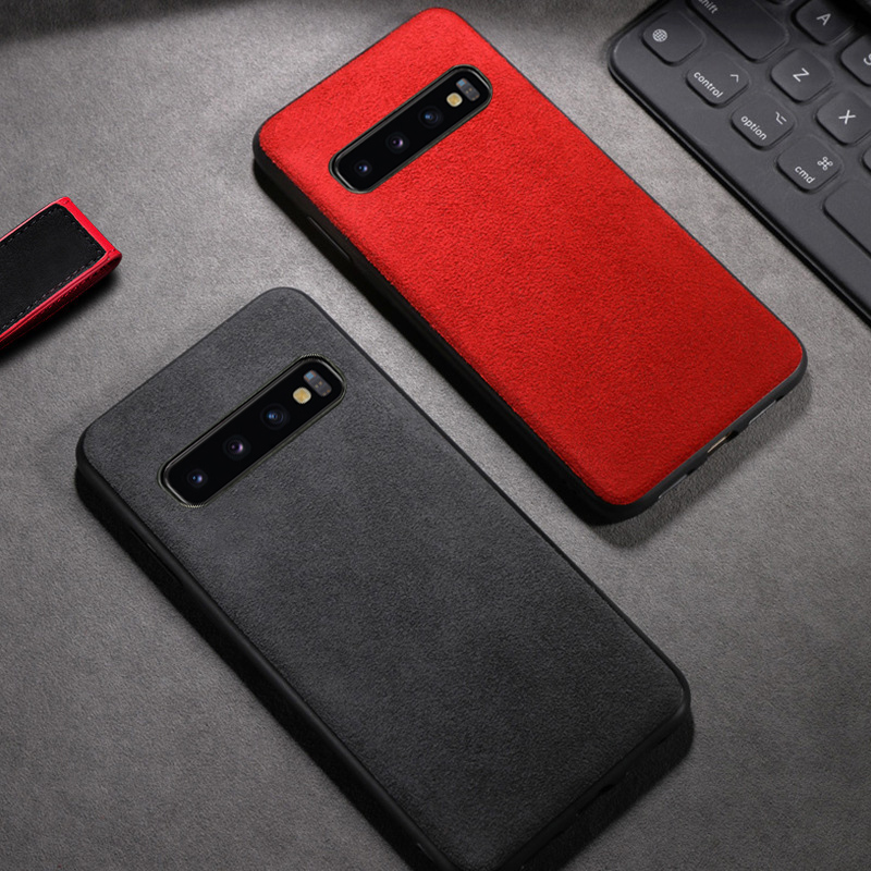 Camurça de couro Caixa Do Telefone Para Samsung S7 S8 S9 S10 Plus Nota 8 9 10 plus A10 A20 A30 A50 A70 A5 A7 J5 J7 2017 J6 A8 2018 Caso