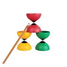 Diabolo roulement fixe chinois Yoyo Diabolos bâtons chaîne jeux de plein air jouets pour enfant