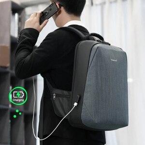 "Image 5 - 2020 tigernu新抗盗難15.6 ""ノートパソコンのバックパック男性大容量のusb充電トラベルビジネスバックパック男性無料バッグファッション"