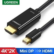 Ugreen Mini Displayport vers HDMI câble 4K Thunderbolt 2 HDMI convertisseur pour MacBook Air 13 iMac Chromebook Mini DP vers HDMI adaptateur