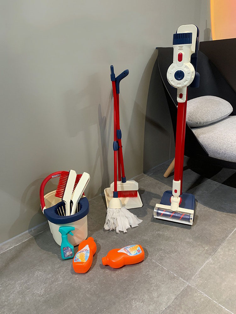 Baby Mop Kids Broom And Dustpan Set Children Learning Educational Mop Floor Toy Cleaning Up Learning Toy For 3 To 12 Years