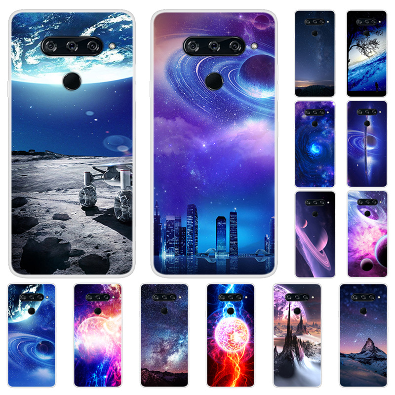 For <font><b>LG</b></font> V40 <font><b>V50</b></font> <font><b>Thinq</b></font> v 50 Case Slim Space Painted Soft TPU Phone Cases For <font><b>LG</b></font> <font><b>V50</b></font> <font><b>ThinQ</b></font> V50thinq Silicone Back Cover V40thinq 40 image