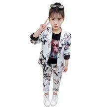 Gorgeous Kids Girls Formal Pant Suits Blazer Jackets 2PCS Ch