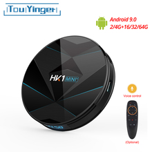 Touyinger HK1 MINI + Android 9.0 TV kutusu RK3318 dört çekirdekli 64bit Cortex A53 2/4GB 16/32/64GB 2.4G/5GHz Wifi Bluetooth H.265 4K USB