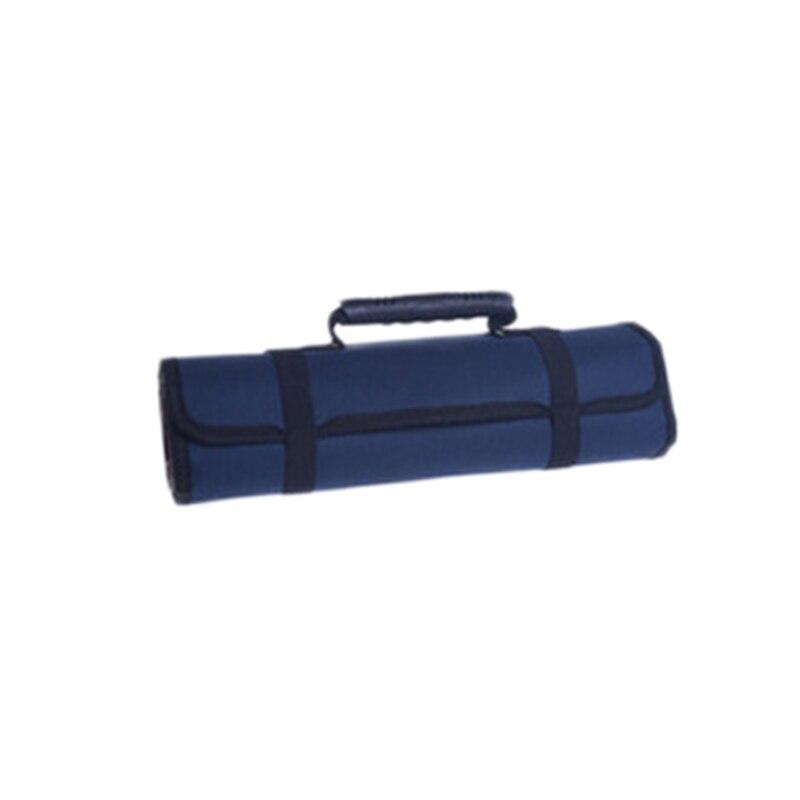 Многофункциональные сумки для инструментов, практичные ручки для переноски, Оксфордский холст, долото, рулон, сумки для инструментов, 3 цвета, чехол для инструментов - Цвет: Blue