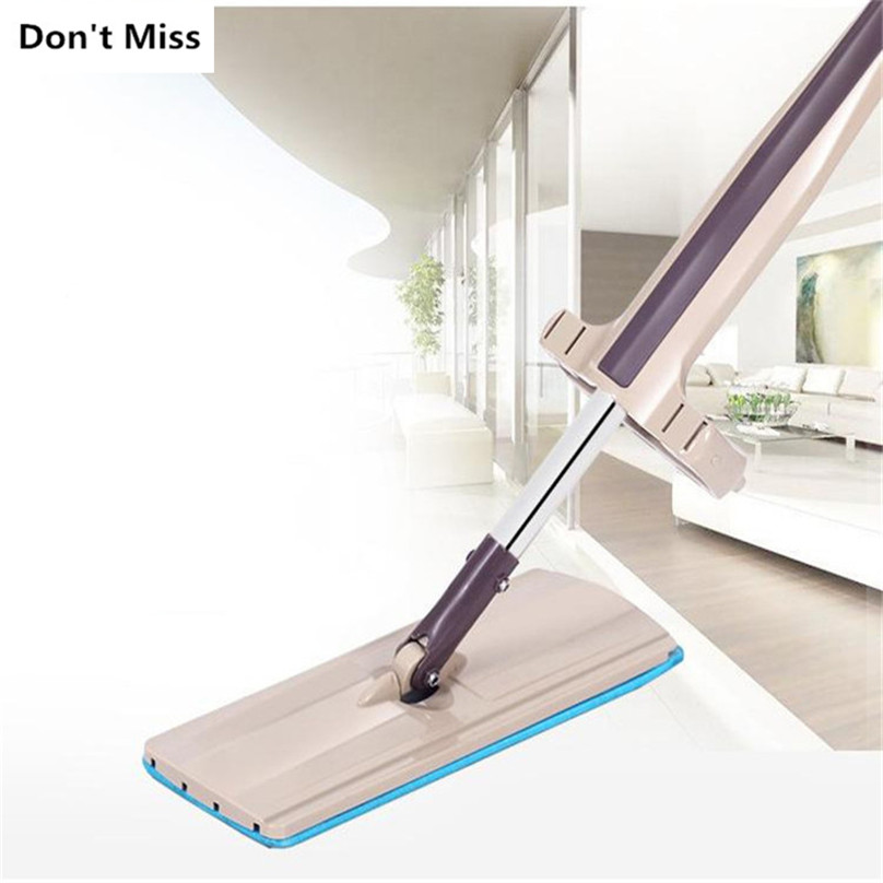 Free-Hand Flat with Microfiber Pad and Stainless Steel Rod for Streak-Free Floor Cleaning 2