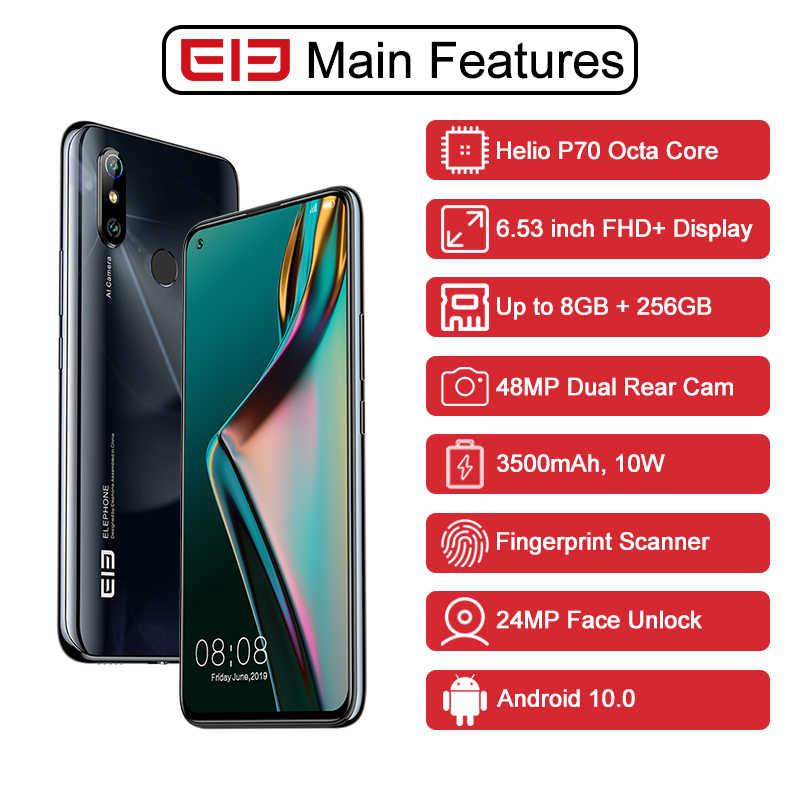 "ELEPHONE U3H Helio P70 אוקטה Core Smartphone 6.53 ""FHD + 8GB 256GB 24MP Selfie 48MP כפולה מצלמה NFC אנדרואיד 10 נייד טלפון"