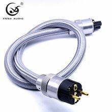 Hi End США AC Мощность провод шнур питания Мощность кабель hifi медный дактилоскопический запорный клапан аудио усилитель CD amp Мощность кабели ЕС и США разъем IEC Мощность линия провода