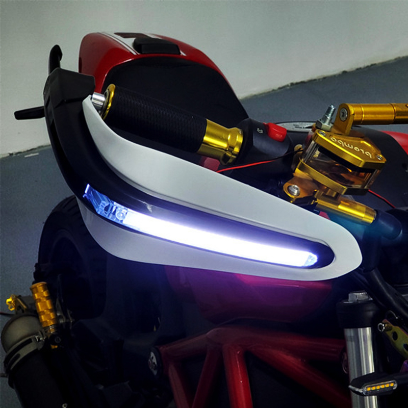 Motorcycle Handguards Hand Guards with LED <font><b>Light</b></font> For <font><b>honda</b></font> cb 500 cb 400 sf x4 msx125 bros 160 ruckus sh 300 shadow 125 <font><b>nc750x</b></font> image