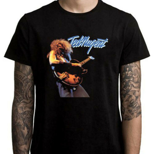 Ted Nugent Hard Blues Rock Guitarist Legend Men's Black T-Shirt Size S To 3XL image