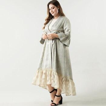 2021 Abaya longue printemps femmes robes papillon grande grande taille mode élégant couture maille ceintures Maxi robe de soirée 1