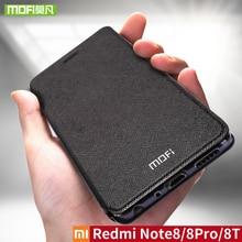 Per Xiaomi Redmi Nota 8 8T Custodia In Silicone Della Copertura del Cuoio di Vibrazione Mofi Per Xiaomi Redmi Nota 8 8T pro versione globale di 360 antiurto