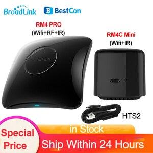 Image 1 - Broadlink RM4 PRO Wifi RF IR Intelligente Telecomando Universale BestCon RM4C Mini IR Telecomando Universale HTS2 Vocale Sensore di Alexa