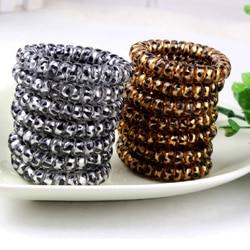 Bandes élastiques léopard en Silicone, gomme de téléphone, anneaux, Bracelets en caoutchouc, accessoires pour cheveux élastique pour queue de cheval