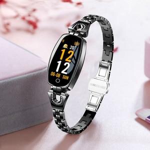Image 2 - H8 femmes montre intelligente mode moniteur de fréquence cardiaque tension artérielle bande intelligente IP67 étanche Fitness activité Tracker dame bracelet
