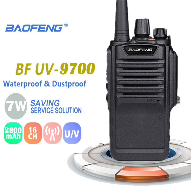 New Baofeng Bf-9700 7W High Power Walkie Talkie IP67 About 12 Hours UHF&VHF 400-520MHz Radio Comunicador Ham Dmr  Radio Boafeng