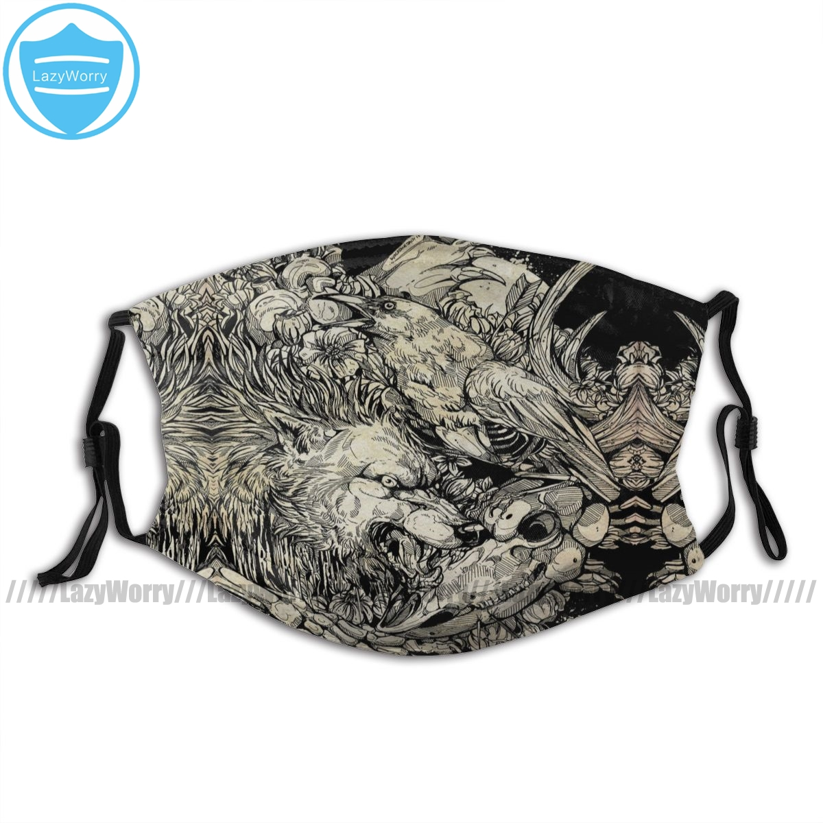 Wolf Skull Mouth Face Mask Do Us Part Facial Mask Kawai Adult Beautiful with Filters Mask