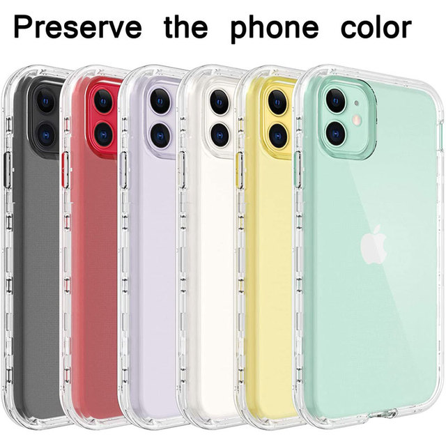 Full Body 360 Front Back Phone Case For Iphone 12 11 Pro Max 8 7 6s Plus Cover Transparent Coque For Iphone X Xr Xs 5s Se 2020 2