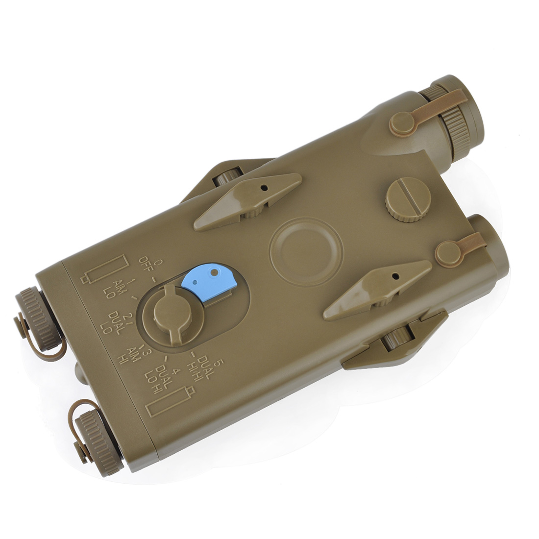 Element ANPEQ-2 Red Laser Battery Case For 20mm Width Rail - Tan/Black
