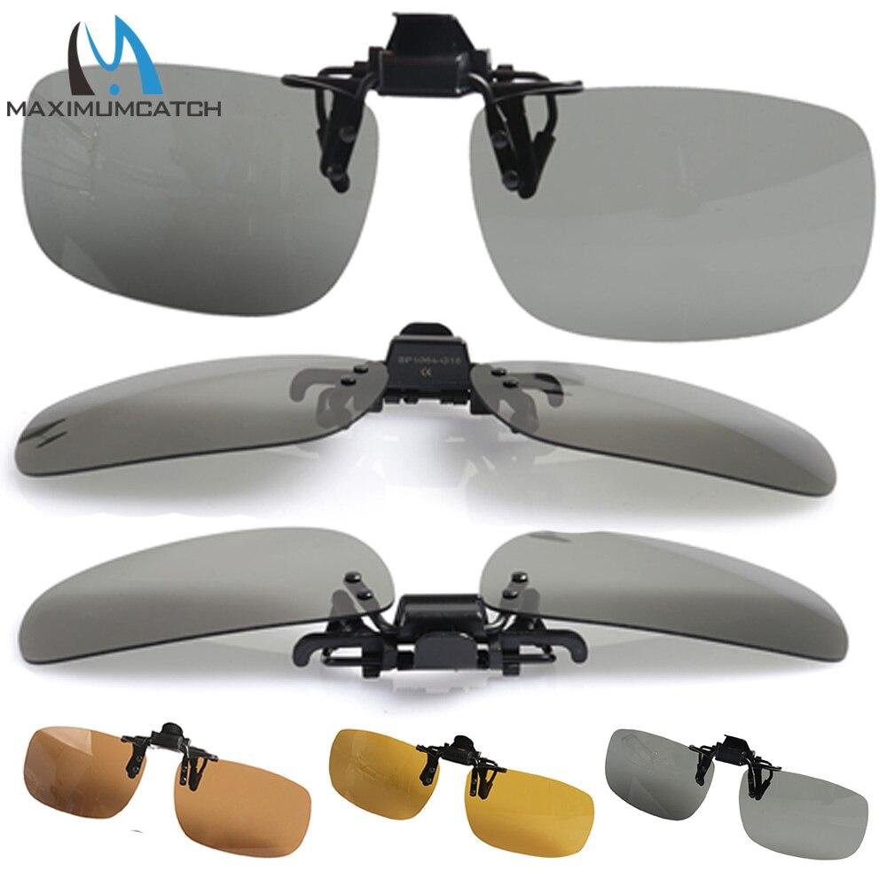 Maximumcatch Super Brilho Bloqueando óculos de Luz Polarizada Clip sobre Óculos De Sol UV 400 Proteção