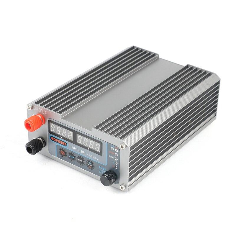 2019 NPS-1601 New Version Laboratory DIY Adjustable Digital Mini Switch DC Power Supply WATT With Lock Function 32V 30V 15V 5A-4