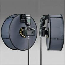 Anneau Softbox SpeedLite Softbox support de lumière Flash 45cm pliable diffuseur anneau Speedlight boîte souple pour Canon Nikon Speedlight
