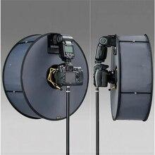 Pierścień Softbox SpeedLite Softbox podstawka lampy błyskowej 45cm składany pierścień dyfuzora lampa błyskowa miękkie pudełko do lampy błyskowej Canon Nikon