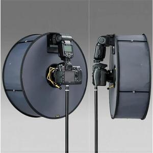 Image 1 - Ring Softbox Speedlite Softbox Flitslicht Stand 45Cm Opvouwbare Diffuser Ring Speedlight Soft Box Voor Canon Nikon Speedlight