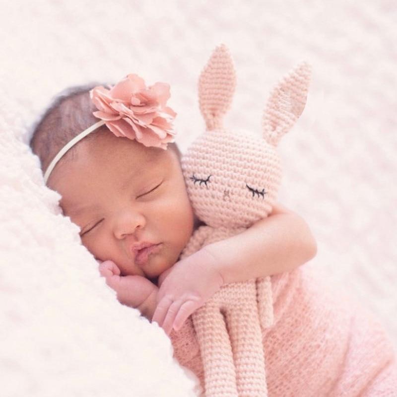 2020 New Handmade Crochet Wool Doll Wool Animal Stuffed Plush Toy Baby Soothing Baby Baby Sleeping Doll