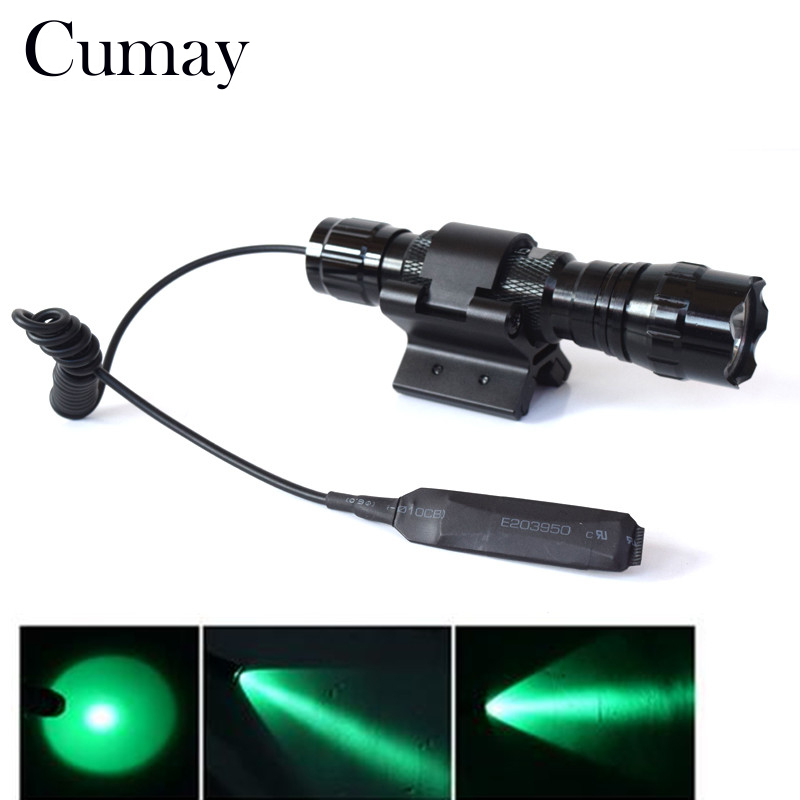 1 modo linterna táctica LED verde linterna de caza 18650 Linterna + soporte de montaje en pistola accesorios de iluminación fuerte doble magnético X