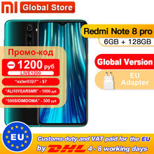 Global Versi Xiaomi Redmi Note 8 Pro 6GB 128GB 64MP Quad Kamera MTK Helio G90T Smartphone 4500 NFC(China)