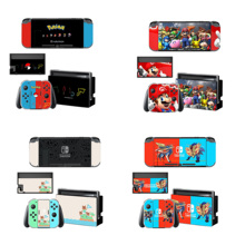 Dock Charger Stand Holder Screen Protector Protective Sticker Skin Cover for Nintendo Switch NS Console Joy con Controller Case