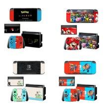 Dock chargeur support de support protecteur décran autocollant de protection housse de peau pour Nintendo Switch NS Console Joy con coque de manette