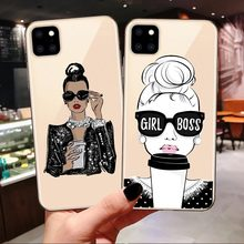 Fashion Queen Boss Gir Mom Baby Silicone Case Coque For iPhone 7 8 Plus X XS Max XR Summer Travel Cover For iPhone 11 Pro Max(China)