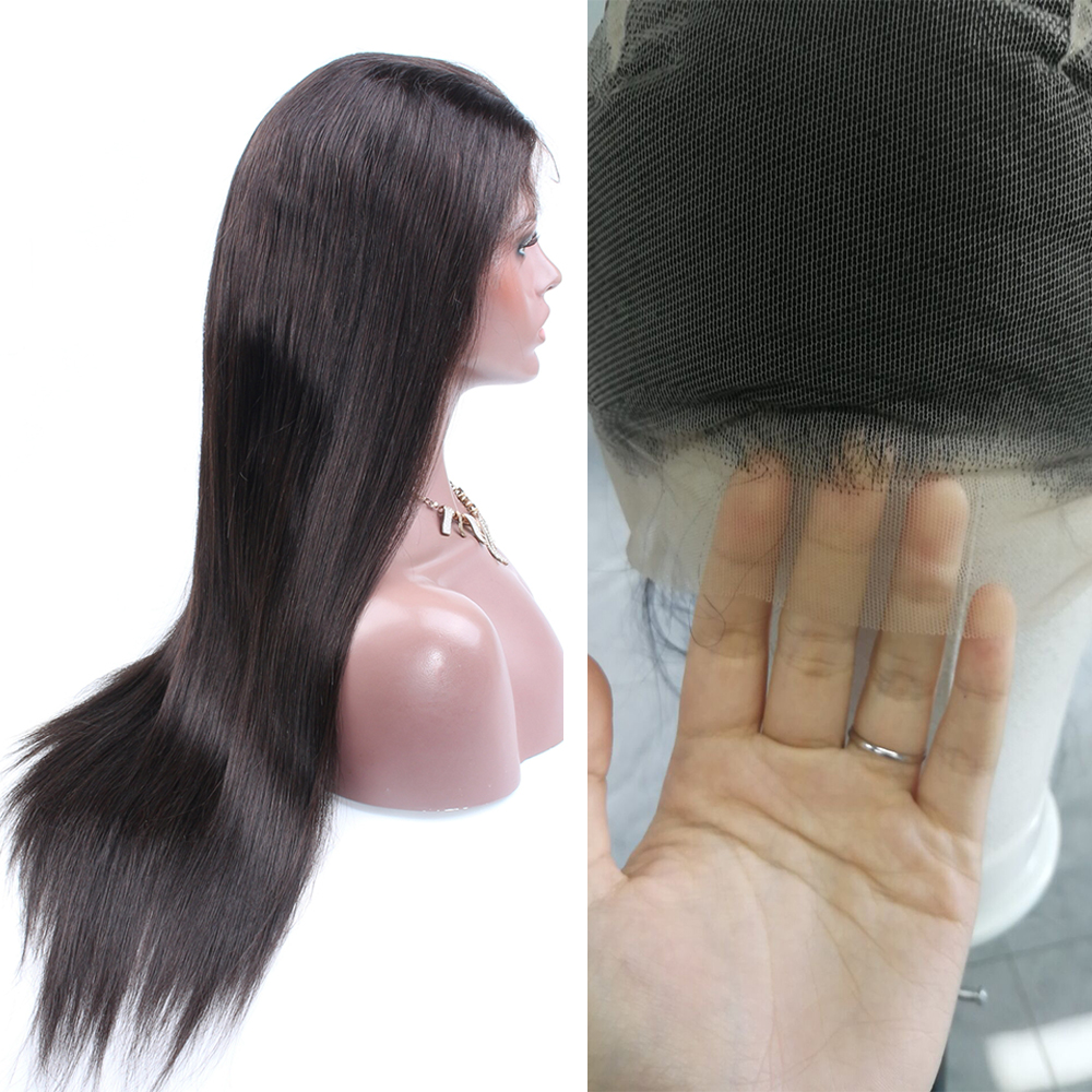 Brazilian Remy HD Transparent Full Lace Human Hair Wigs With Baby Hair Straight Wig Transparent Human Hair Wigs For Women