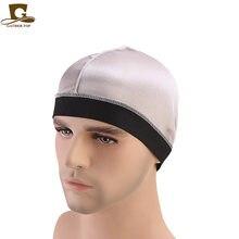Nouvelle émulation soie Base casquette perruques casquette bandeau élastique chimiothérapie soyeux dôme casquette