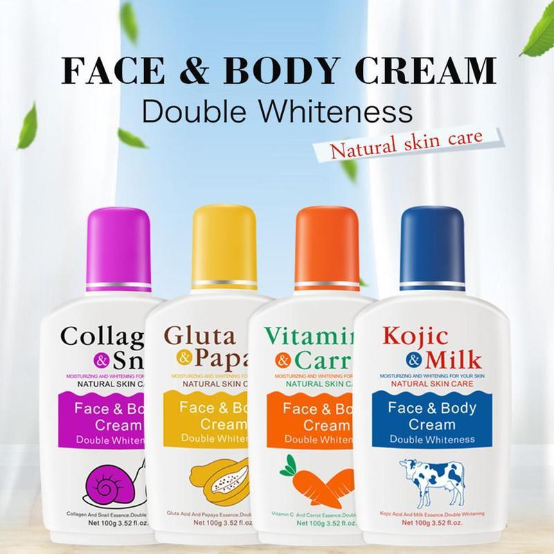 Vitamin C Carrot Papaya Milk Snail Emulsion Bleaching Face Body Cream Skin Whitening Moisturizing Lotion Skin Lightening Cream