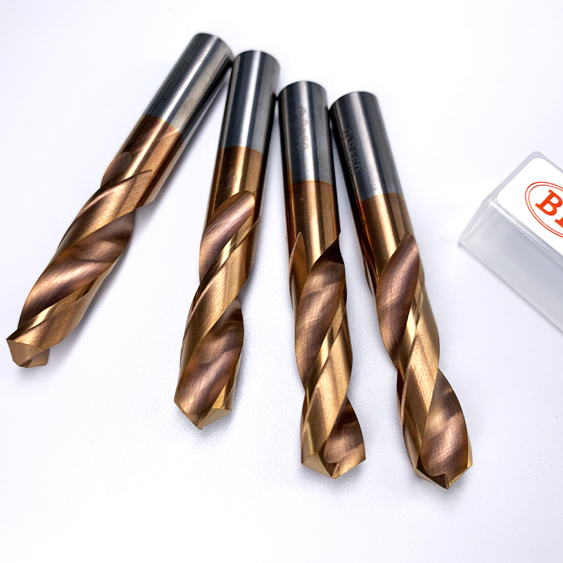 BB Solid Carbide Twist Drill With Parallel Shank General Stub 1-20mm For CNC Metal Steel Iron Hole Drilling