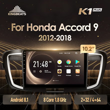 Kingbeats Android 8.1 Octa-Core Head Unit 4G In Dash Auto Radio Multimedia Video Player Navigatie Gps Voor honda Accord 9 Cr 2012 2013 2014 2015 2016 2017 2018 Geen Dvd 2 Din Dubbel Din Android Car Stereo 2din DDR4 2G Ram(China)