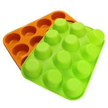 Round Silicone Cake Mould Muffin Cup Porous DIY Round Baking Mould Cake Mould cake tools  silicone molds  cake stencil  baking