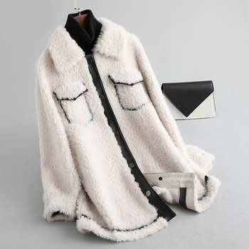 Pudi women winter  Real wool fur coat short jacket overcoat lady female genuine fur parka  A19063 aorice b1810106 women s winter warm real wool fur jacket hood collar leisure girl coat lady jacket over size parka
