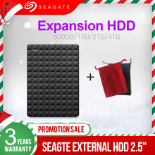 Внешний жесткий диск Seagate, 2,5 дюйма, 1 ТБ, 2 ТБ, 4 ТБ, портативный жесткий диск USB 3,0, HDD 500 ГБ для настольного ноутбука, Macbook, Ps4