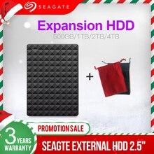 Seagate disque dur externe HDD USB 2.5 de 3.0 pouces, Expansion, capacité de 500 go, avec capacité de 1 to, 2 to, 4 to, pour ordinateur de bureau, pc Portable, Macbook, Ps4
