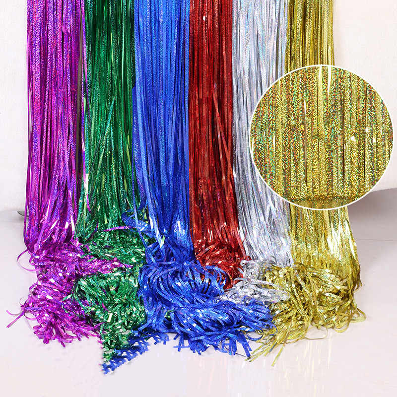 Laser Rain Wire Birthday Party Background Wall Decoration Party Decorating Rain Wire Curtain Party Backdrops Aliexpress