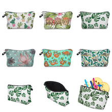 Vogvigo Flower Plant Animal Printing Makeup Bags With Multicolor Pattern Cosmetics Pouchs For Travel Pouch Women Cosmetic Bag