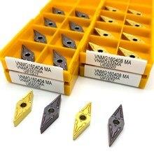Karbür aracı VNMG160408 MA yüksek kalite harici metal kesme aletleri CNC makinesi aracı freze aracı VNMG160404 endekslenebilir araçları