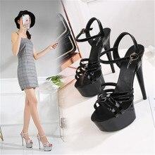 2020 Shoes Women Steel Tube Dancing Striptease Walking Show Sandals Model high-heel 15cm Shoes Sandals Platform Wedding Shoes 43